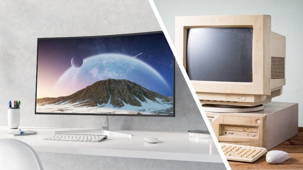 PC-skjermens historie - fra kloss til koloss