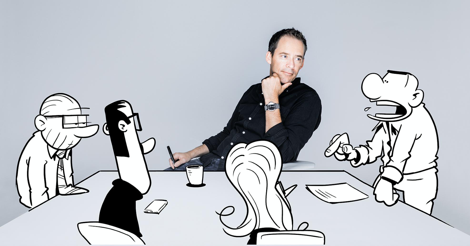 Børge Lund, serieskaperen bak LUNCH