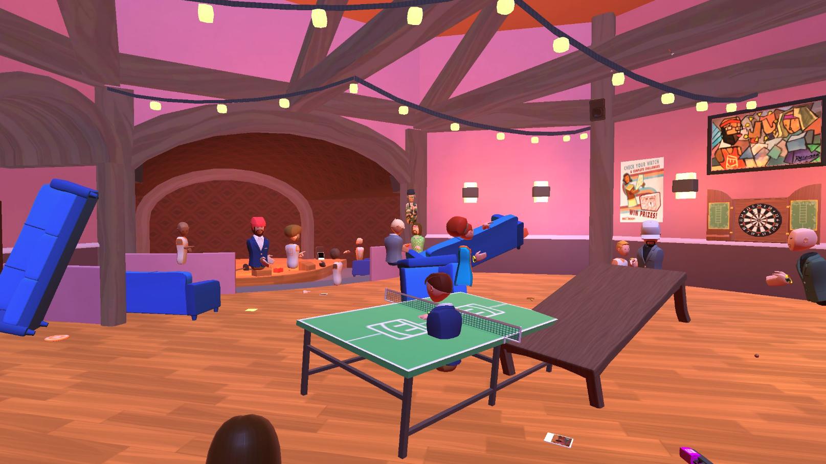 Lounge med kollegene og VR-briller