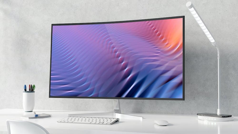 Ultrawide buet curved skjerm