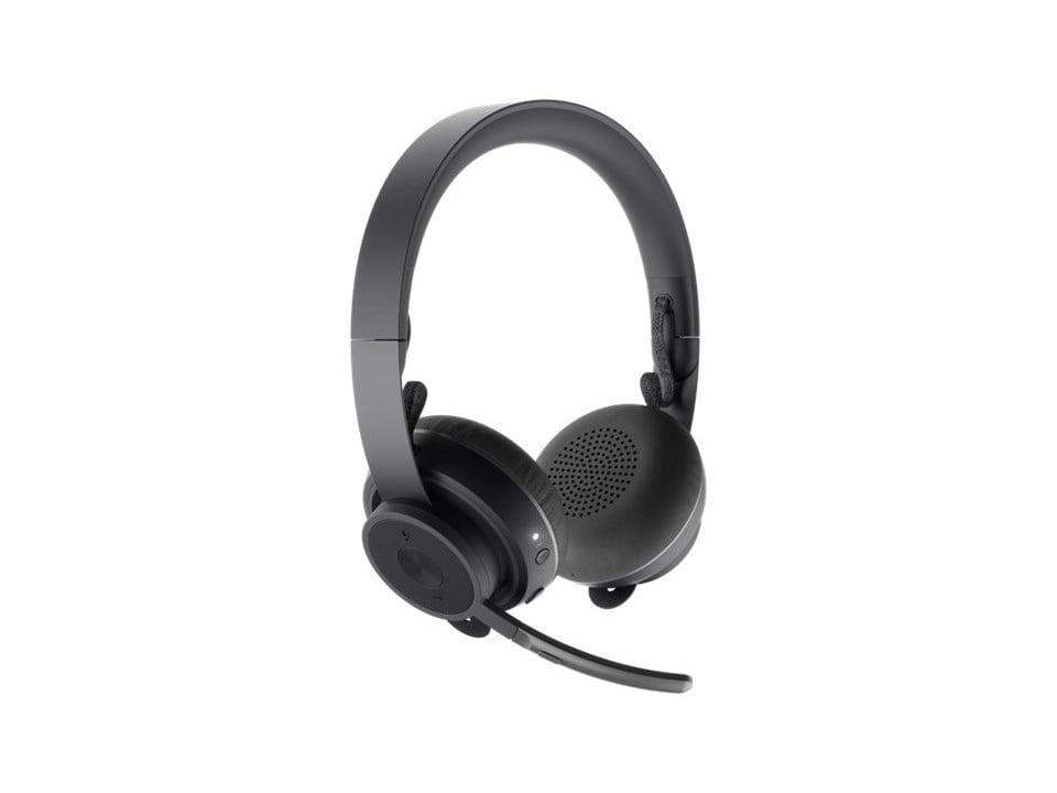 logitech zone trådløse hodetelefoner med støydemping på mikrofon