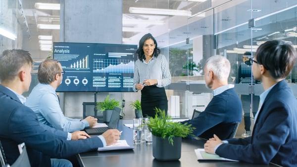 møterom og businessmøte