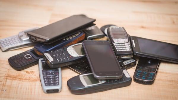 mobiltelefoner, nye og gamle