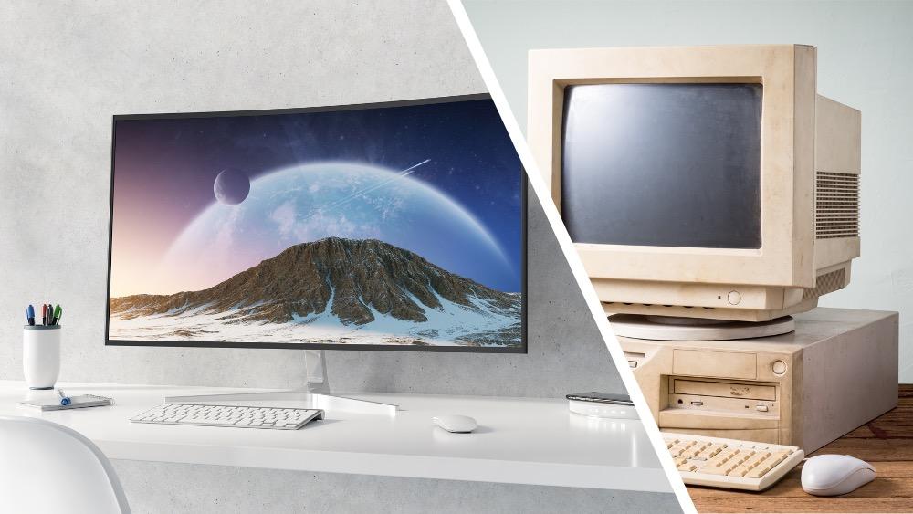 PC-skjermens historie: fra kloss til koloss
